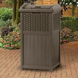 33 gallon outdoor resin trash can garbage