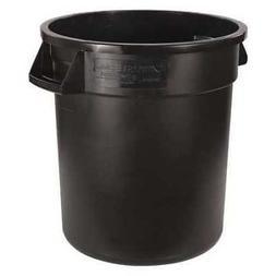CARLISLE 34101003 10 gal. Black Round Bronco Round Trash Can
