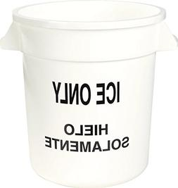 "Carlisle 341010ICE02 Round Ice Container, 10 gal, 16"" x 17"","