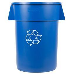 Carlisle 341044REC14 Bronco 44 Gallon Blue Recycling Trash C