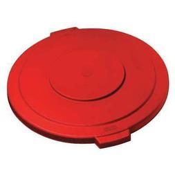 CARLISLE 34105605 Round Trash Can Lid, 55 gal,Red,PK2