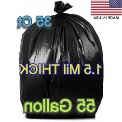 """35 Large 55 Gallons 38 x 55"""" Trash Can Bags Garbage Heavy Du"""