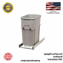 35-Quart Pull Out Kitchen Cabinet Garbage Bin Trash Can Soft