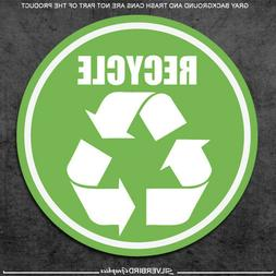 3x Recycle / sticker trash can / label / home / office / wea