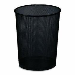 Steel Round Mesh Trash Can, 4.5 gal, Black