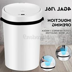 4 Gal Touch Free Sensor Trash Can Kitchen Automatic Intellig