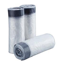 4 Gallon Clear Drawstring Trash Bag Garbage Bag Trash Can Li