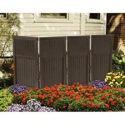 4 Panel Outdoor Privacy Divider Screen Enclosure Folding Tra