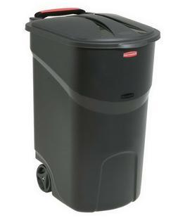45 Gallon Trash Can Rolling Rubbermaid Roughneck Wheeled Gar