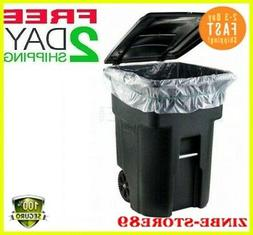 45,GALLON WHEELED TRASH CAN Lid Garbage Container Outdoor Wa
