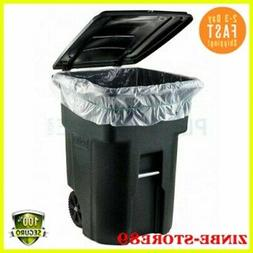45 GALLON-WHEELED TRASH CAN Lid Garbage Container Outdoor Wa