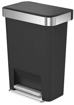 simplehuman 45-Liter Plastic Rectangular Step Trash Can with