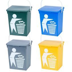 5 Litre Colourful Rubbish Trash Waste Bins Cans Flip Lids Ca