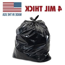 55 Gallon, 4mil Extra Heavy Duty Strength, Trash Can Liners,