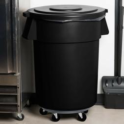 55 Gallon Carlisle Black Plastic Restaurant Kitchen Trash Ca