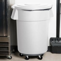 55 Gallon Carlisle White Plastic Restaurant Kitchen Trash Ca