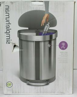 simplehuman 55 litre dual compartment semi-round step trash