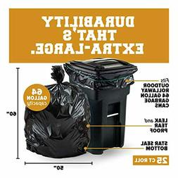 Plasticplace 64-65 Gallon Trash Can Liners for Toter │ 1.2