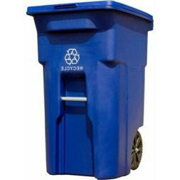 64 Gal. Recycling Container with Wheels Trash Can Bin Large