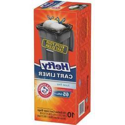 Hefty 65 Gal. Cart/Trash Can Liner  4 pk