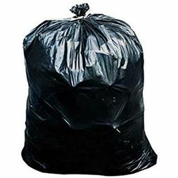 65 Gallon Trash Bags - 1.5 Mil Black Heavy Duty Garbage Can