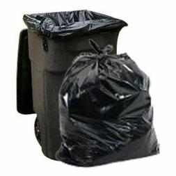 65 Gallon Trash Bags │ 1.5 Mil │ Black Heavy Duty Garbag