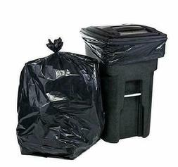 65 Gallon Trash Bags │ 2.7 Mil Black Heavy Duty Garbage Ca