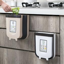 6L Wall Mounted Folding Waste Bin Kitchen Cabinet Door Hangi