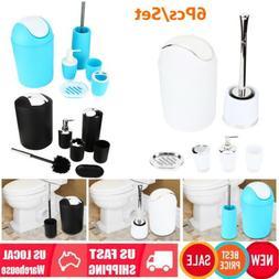 6Pcs/Set Bathroom Accessories Bathroom Trash Can Soap Dispen