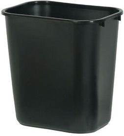 Rubbermaid Commercial Products 7 Gal. Black Rectangular Tras