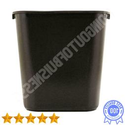 7 Gallon Plastic Black Rectangular Trash Can Waste Bin Garba