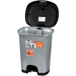7 Gallon Trash Can Step-On with Lid Lock and Bottom Cap Wast