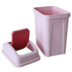 Teyyvn 7 Liter / 1.8 Gallon Plastic Trash Can, Small Garbage