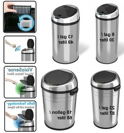 8/13/18/23 Gallon Automatic Touchless Sensor Kitchen Trash C