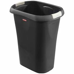 Rubbermaid 8 GAL Trash Can BLACK SLIM FIT Kitchen Tall Waste