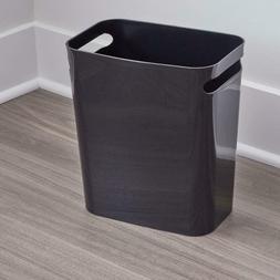 """8 Quart 12"""" Black Handle Trash Garbage Can For Bathroom Bedr"""