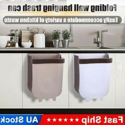 8L Wall Mounted Folding Waste Bin Kitchen Cabinet Door Hangi