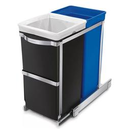 9 Gallon Under Counter Pull-Out Trash Can Dual Compartment