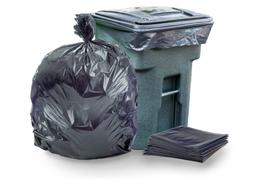 95-96 Gallon Garbage Can Liners 1.5 Mil Black Heavy Duty Tra