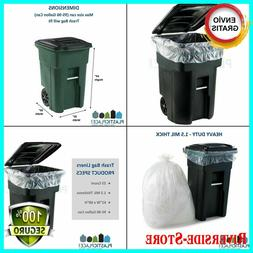95-GALLON WHEELED TRASH CAN Lid Garbage Container Outdoor Wa