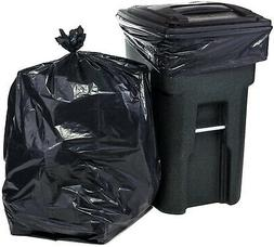 96 Gallon Garbage Can Liners - Black Heavy Duty Trash Bags 6