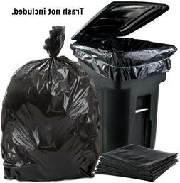Black Heavy Duty Trash Bags 96 Gallon Wheeled Trash Can Lid