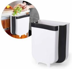 9L Kitchen Cabinet Hanging Trash Can Small Collapsible Mount