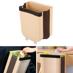 9L Hanging Trash can for Kitchen Cabinet, Folding Waste Bin,