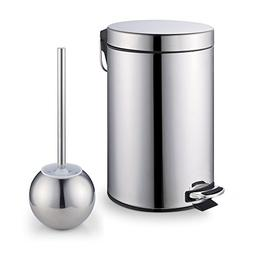Cook N Home Stainless Steel Step Trash Can/Bin and Toilet Br