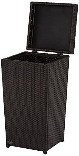 Crosley Furniture Palm Harbor Outdoor Wicker Trash Bin - Bro