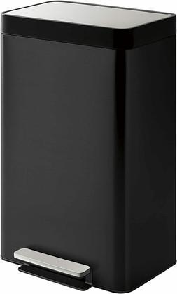 Kohler 20940-BST 13-Gallon Step Trash Can, Black Stainless