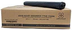 PlasticMill 100 Gallon, Black, 1.3 Mil, 67x79, 50 Bags/Case,