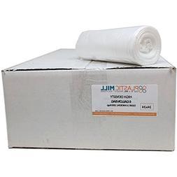 PlasticMill 7-10 Gallon, Clear, High Density, 6 Micron, 24X2