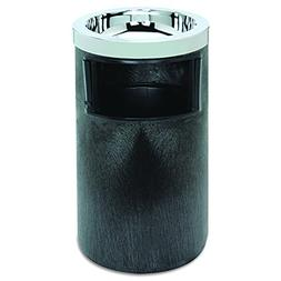 Rubbermaid Commercial 258600BLA Smoking Urn w/Ashtray and Me